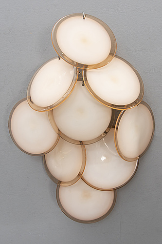 Wall lamps, a pair, italy, vistosi, second half of the 20th century.