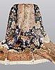 A rug, oriental silk, ca 195 x 195 cm.