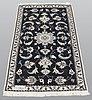 Two nain nain rug part silk, ca 136 x 70 and 138  x 70 cm.