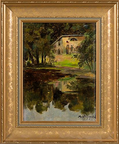 Maria alekseevna feodorova, oil on canvas, signed.