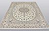 A carpet, nain part silk s.k 6laa, 304  x 206 cm.