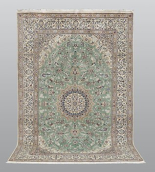 A carpet, Nain part silk so called 9 LAA 301 x 192 cm.