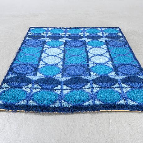 A 1950/60s long pile rug machine made ca 230 x 173 cm.