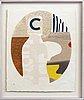 Max papart, 2 pcs, carborundum etching, signed 1v / xv.