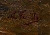 Eugen taube, olja på duk, signerad.