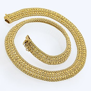 Necklace 14K gold 42,1 g, approx 45 x 1 cm.