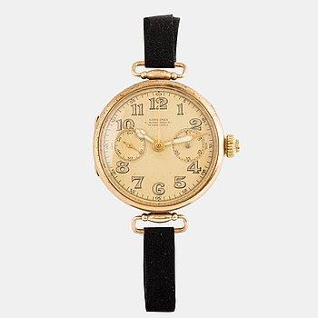 "Longines, ""Monopusher"", ""F. Woroniecki Warszawa"", chronograph, wristwatch, 35 mm."