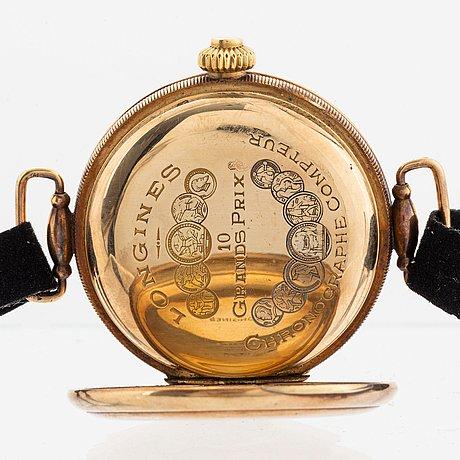 "Longines, kronograf, ""monopusher"", ""f. woroniecki warszawa""."