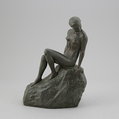 Eric hedland, sculpture. painted plaster.