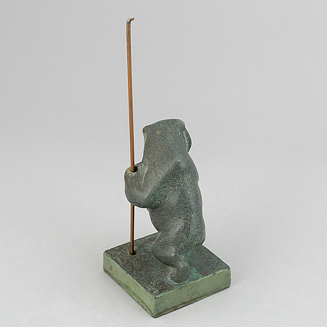 Jussi mäntynen, sculpture, bronze, signed with stamp.