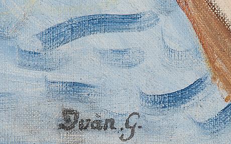 Iván grünewald, signed. oil on canvas 60 x 73 cm.