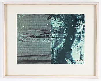 Ola Billgren, lithograph in colours, 1983, signed 184/200.