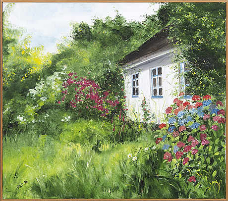 Annj marie jönsson, oil on canvas, signed amj.