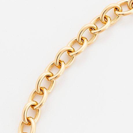 """Tiffany collier """"1837"""" 18k guld."""