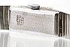 Wristwatch lanco interloc, 18k whitegold, single-cut diamonds, 19 mm, manual, length approx 18 cm.