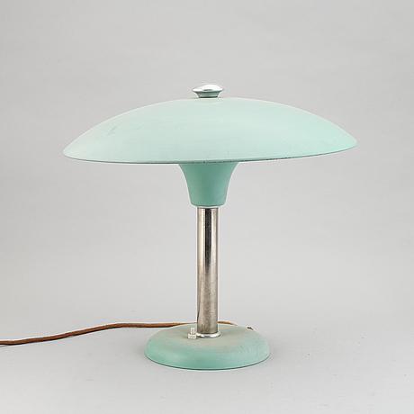 Bordslampa, funkis, metallwerke schröder lobenstein, tyskland, 1930-tal.