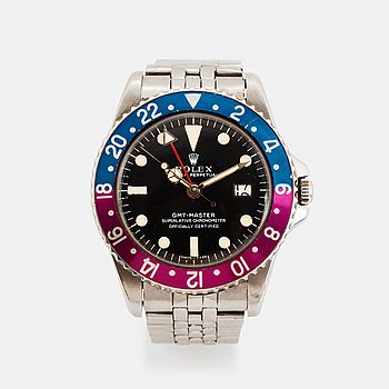 """37. Rolex, GMT-Master, """"Pointed Crown Guards, Fuchsia""""."""