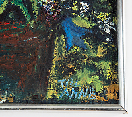 Hans wigert, oil on canvas, signed on verso.