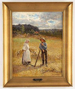 Severin Nilson, oil on canvas, signed Severin Nilson.