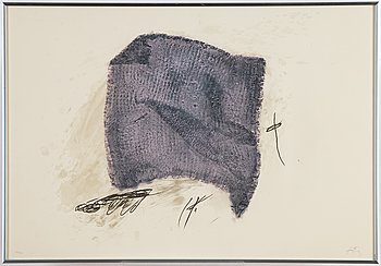 Antoni Tàpies, lithograph in colours, signed 32/75.