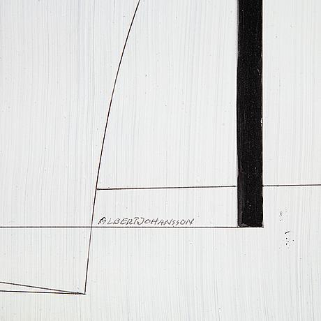 Albert johansson,olja på pannå, signerad.