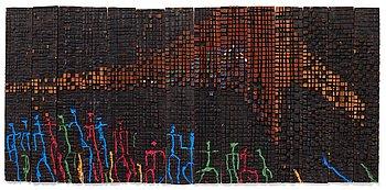 "709. El Anatsui, ""Migrants and illusion""."