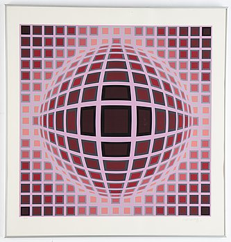Victor Vasarely, silkscreen in colours, signed 152/275.