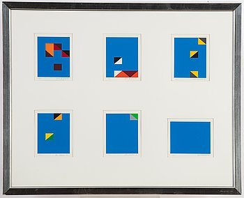Paul Osipow, silkscreen in colours, 6, 1995, signed 79/95.