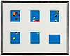 Paul osipow, silkscreen in colours, 6, 1995, signed 79/95.
