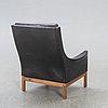 Armchair, leather, probably denmark, 1960s.