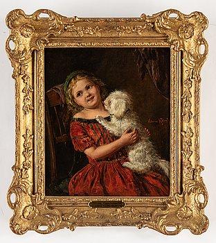 Edwin Thomas Roberts, oil on canvas, signed Edwin Roberts.