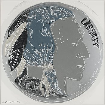 "452. Andy Warhol, ""Indian Head Nickel"", from: ""Cowboys & Indians""."