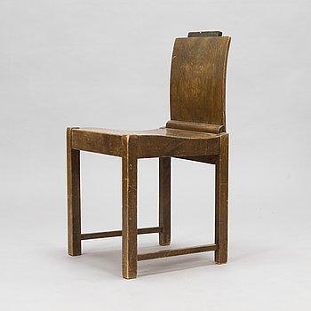 Erik Bryggman, A wooden chair, 1920's.