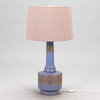A mid-20th century ceramic floor lamp /table lamp for Bitossi Italy.