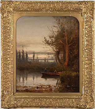 Unknown artist, oil on panel, 19th century.