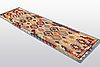 A runner, flat weave, ca 292 x 82 cm.