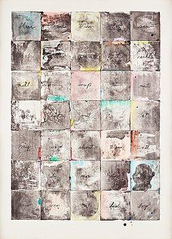 "432. Jim Dine, ""Wall chart II""."