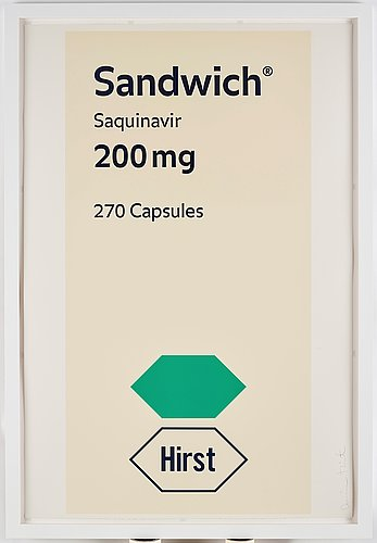 """Damien hirst, """"sandwich"""", from: """"the last supper""""."""