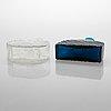 Nanny still, two 1960s 'flindari' decanters for riihimäen lasi, finland.