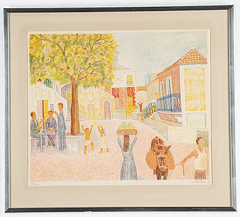 Mårten Andersson, lithograph in colours, 1977, signed 8/460.