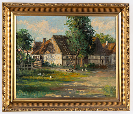 Frans wilhelm odelmark, oil on canvas, signed.