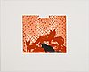 "Ernst billgren, ""the end of all animals"", portfolio with 12 etchings, signed och numbered 3/40."