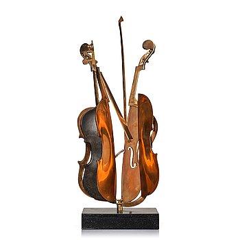 "688. Arman (Armand Pierre Fernandez), ""Sliced violin""."
