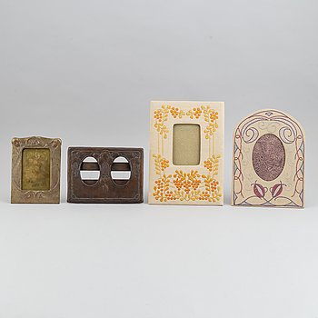 A set of four Art Noveau picture frames, first part of the 20th century.