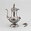A silver coffee pot, christopher creutz, stockholm 1865.
