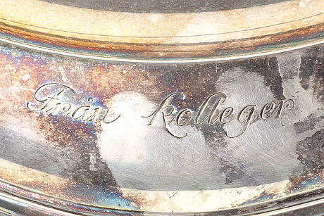 A swedish 20th century silver plate marks of s pettersson linköping 1924.