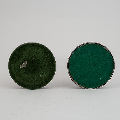 Ljusstakar, ett par, silver, mgab, 1966.