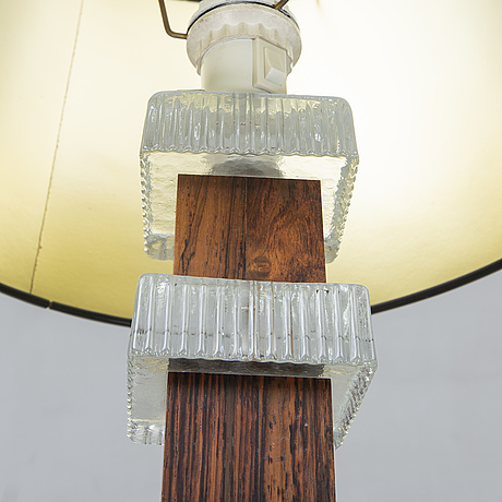 A pair of 1970s glass table lamps.