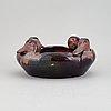 Karl hansen reistrup a luster glaze earthenware 'duck bowl'. herman kähler, denmark. first half of the 20th century.