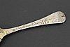 A swedish 18th century silver-gilt memorial spoon, mark of otto henrik sjoberg, falun (1726-1775(1778)).
